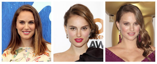 Celebrity Hairstyles - Natalie Portman's Hairstyles for a Long Face