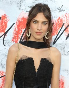 Hairstyle Trends 2019 - Alexa Chung with curtain bang hairstyle at Serpentine Gallery Summer Party 2018