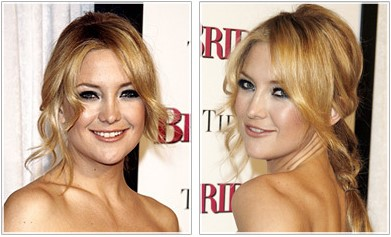 Kate Hudson Ponytail hairstyle loosley styled