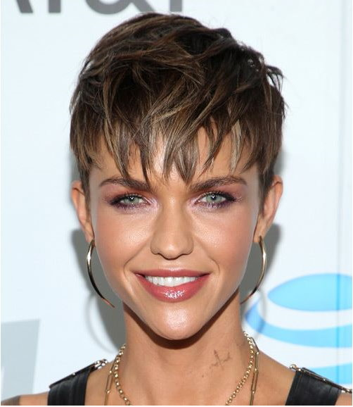 short straight pixie casual hairstyle