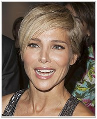Casual Short Crop with side swept fringe and side part