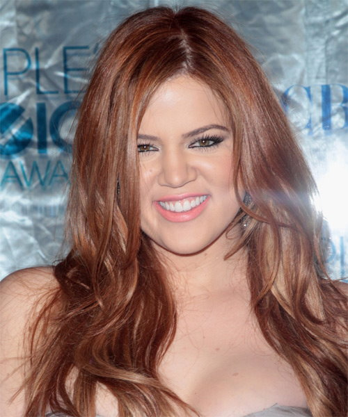 Khloe Kardashian Long Straight Casual Hairstyle