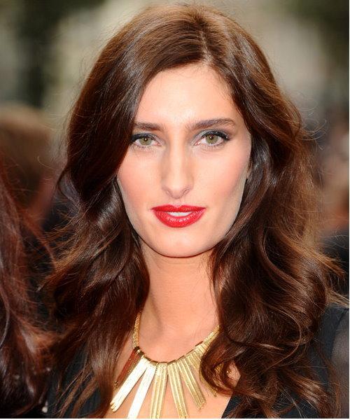 Jessica Knappet long brunnette hair
