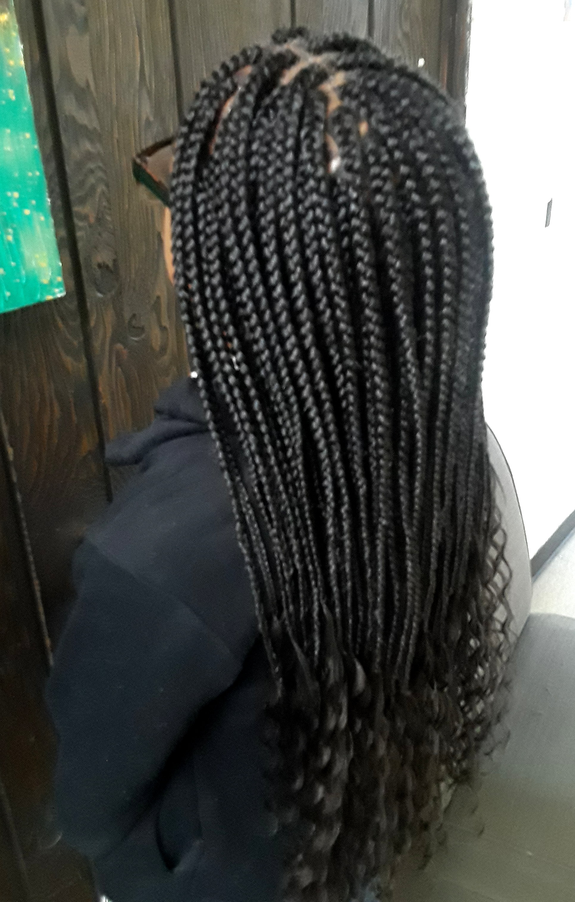 Box Braids on Long Hair