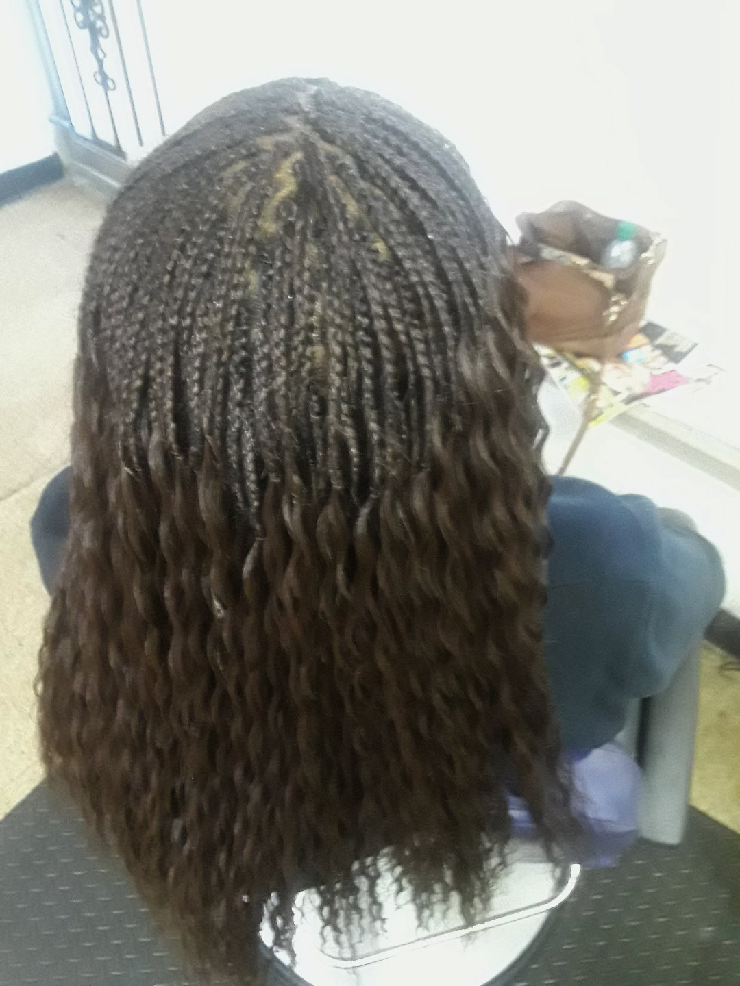 Medium Micro Braids on Medium Hair with Long Strands