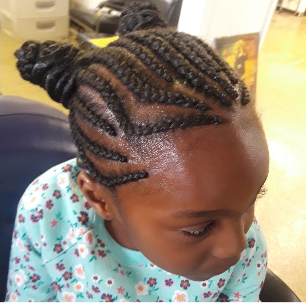 Young Girl French Braids
