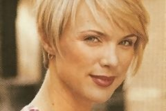 From our hairstyles gallery a picture of a short layered hairstyle with side swept bangs