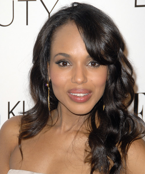 Kerry Washington sexy long loose curls