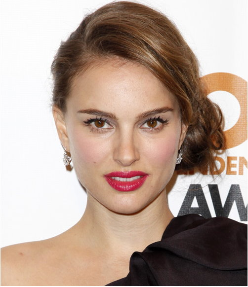 Natalie Portman updo evening hairstyle