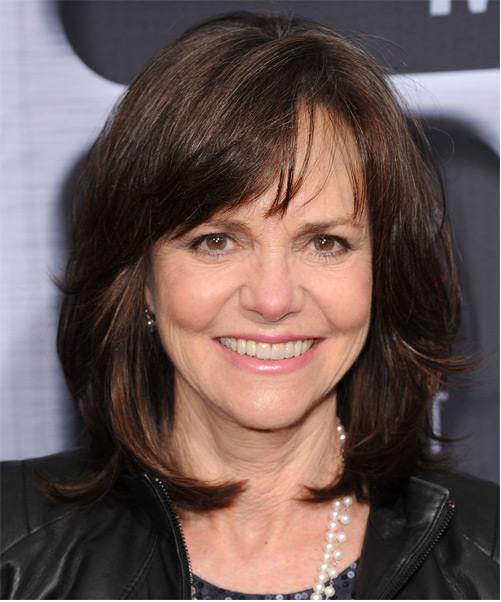 Sally Field medium straight hairstyle