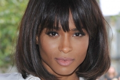 Ciara bob hairstyle with bangs