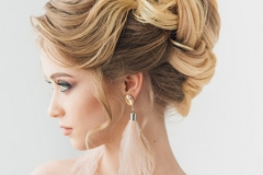 Updo evening hairstyle