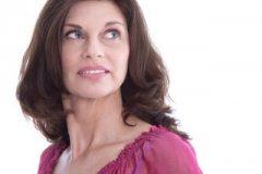 Gesicht einer lteren Frau mit fast 50