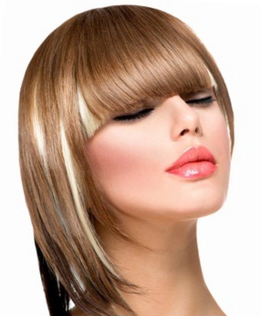 Short Hairstyle with full Fringe